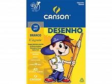 BLOCO DESENHO A-3 140GR BRANCO C/20FLS - CANSON