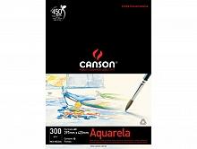 BLOCO DESENHO A-3 300GR AQUARELA C/12FLS - CANSON