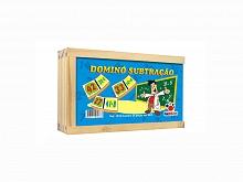 BRINQUEDO PEDAG. DOMINO SUBTRACAO C/28PCS - CIABRINK