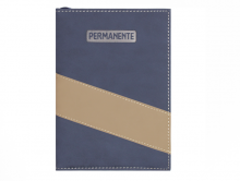 AGENDA PERMANENTE AZUL MARINHO C/ BEGE - DAC