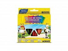 GIZAO DE CERA BIG GIZ TRIANGULAR 12 CORES - ACRILEX