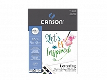 BLOCO LETTERING MIX MEDIA 24X32 200GR C/20FLS - CANSON
