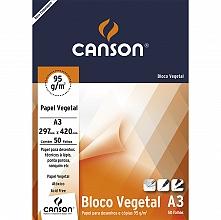 PAPEL VEGETAL A-3 90GRS C/50FLS - CANSON