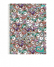 CADERNO UNIV. 20X1 C.D POP COLLECTION 400FLS - FORONI