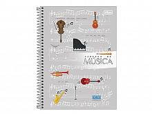 CADERNO ESPIRAL P/MUSICA GRANDE C.D. C/80FLS - TILIBRA