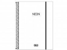 CADERNO UNIV. 1X1 C.D NEON BRANCO 80FLS - TILIBRA
