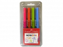 CANETA F.CASTELL FINE PEN COLORS ES2ZF 0.4MM C/04UN CARTELA