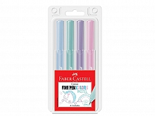 CANETA F.CASTELL FINE PEN COLORS PASTEL 0.4MM C/04UN CARTELA