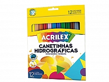 CANETA HIDROCOR ACRILEX C/12CORES