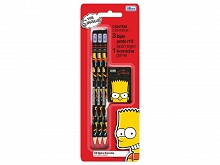 LAPIS PRETO TILIBRA N. 02 CARTELA C/03UN SIMPSONS+BORRACHA