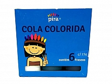 COLA COLORIDA C/06 CORES - PIRATININGA