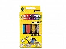 COLA GLITTER C/04 CORES 15GR - ACRILEX