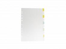 DIVISORIA PLAST. P/FICHARIO C/10FLS REF.6923-CR C/VISOR- DA