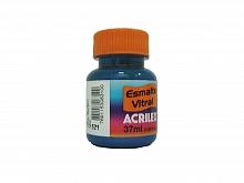 ESMALTE VITRAL 37ML REF.521 AZUL - ACRILEX