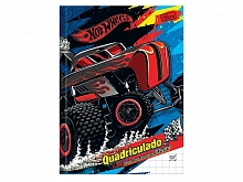 CADERNO CAPA DURA QUADRICULADO 10X10MM HOT WHEELS 40FLS-TILI