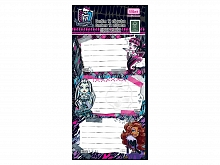 ETIQUETA P/CADERNO TILIBRA MONSTER HIGH C/12UN