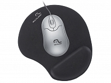 INF.MOUSE PAD APOIO EM GEL PRETO MED AC024 - MULTILASER