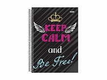 CADERNO UNIV. 10X1 C.D KEEP CALM 200FLS - S.DOMINGOS