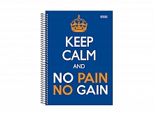 CADERNO UNIV. 15X1 C.D KEEP CALM 300FLS - S.DOMINGOS