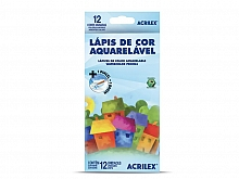 LAPIS DE COR ACRILEX C/12 CORES AQUARELAVEL C/ PINCEL