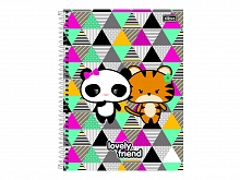 CADERNO UNIV. 16X1 C.D LOVELY FRIEND 320FLS - TILIBRA