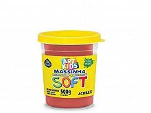 MASSA DE MODELAR SOFT 500GR REF103 VERMELHO - ACRILEX