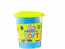 MASSA DE MODELAR SOFT 500GR REF109 AZUL - ACRILEX