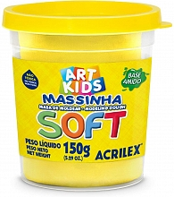 MASSA DE MODELAR SOFT 150G REF102 AMARELO LIMAO - ACRILEX