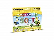 MASSA DE MODELAR C/12 CORES SOFT - ACRILEX