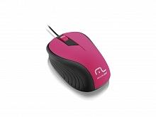 INF.MOUSE USB EMBORRACHADO ROSA MO223  - MULTILASER