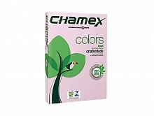 PAPEL SULFITE CHAMEX COLORS ROSA 210X297 C/500FLS