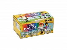 TINTA PLASTICA C/06 CORES 15ML - ACRILEX