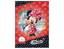 CADERNO BROCH CD GDE QUADRICULADO 10MM MINNIE 40FLS-TILIBRA