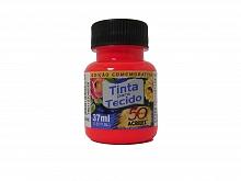 TINTA P/TECIDO FLUORESCENTE 37ML REF.103 VERMELHO-ACRILEX