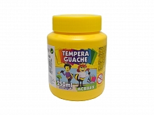 TINTA GUACHE 250ML REF:505 AMARELO OURO - ACRILEX